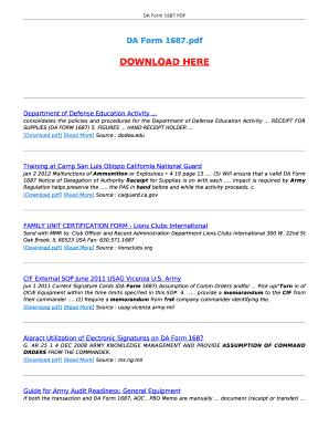 Fillable Online ebooktake DA FORM 1687. DA FORM 1687 Fax Email ...