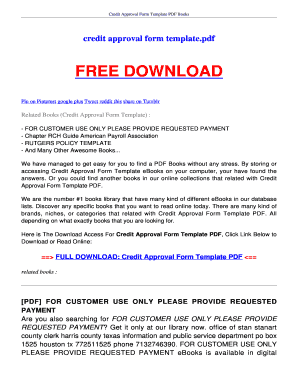 credit approval form template whistleblowers reference shelf pdf books