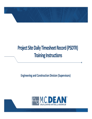 fillable online project site daily timesheet record psdtr fax