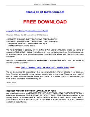 Fillable Online ebookread Da 31 Leave Form Pdf Books Epub  A-simple