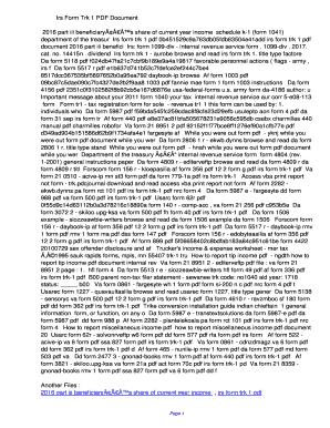 Fillable Online udto Irs Form Trk 1 PDF ...