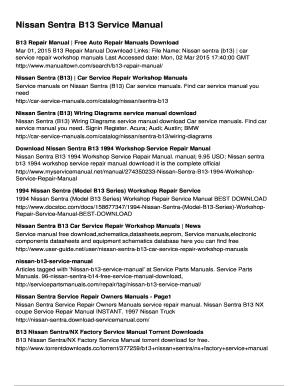 Ga16de workshop manual array fillable online nissan sentra b13 service manual doc103 myadha com rh pdffiller com fandeluxe Image collections