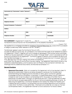 Fillable Terminating A Contract Between A Homeowner And Contractor - Homeowner contractor agreement template