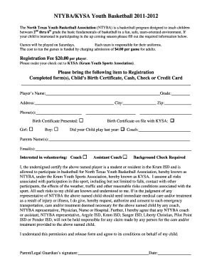 Basketball certificate templates edit fill out online the north texas youth basketball association ntyba is a basketball program designed to teach yadclub Choice Image