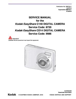 fillable online service manual for the kodak easyshare c140 digital rh pdffiller com Omni 2 Digital Camera Manual Manual Focus Digital Camera