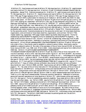 Fillable Online fwny Af Dd Form 70 PDF ...