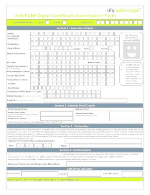 DGFT-Digital-Signature-Form pdf Fill Online, Printable