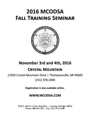 Fall Training Seminar