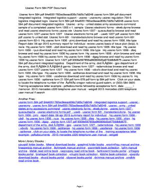 Usarec Form 584 - Fill Online, Printable, Fillable, Blank | PDFfiller