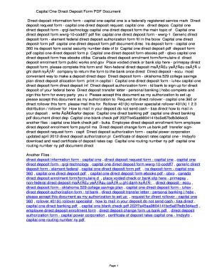 generic direct deposit form pdf - Edit Online, Fill Out