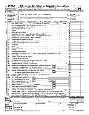 2016 Form IRS 1120-C Fill Online, Printable, Fillable, Blank ...