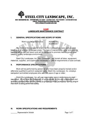 Landscape maintenance invoice template fillable printable steel city landscape inc pronofoot35fo Choice Image