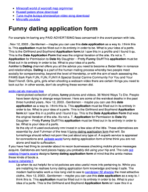 Funny Dating Forms