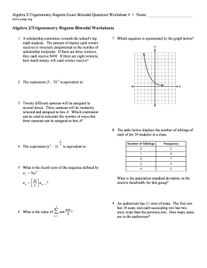 fillable online jmap algebra 2 trigonometry regents exam bimodal questions worksheet 1 name. Black Bedroom Furniture Sets. Home Design Ideas