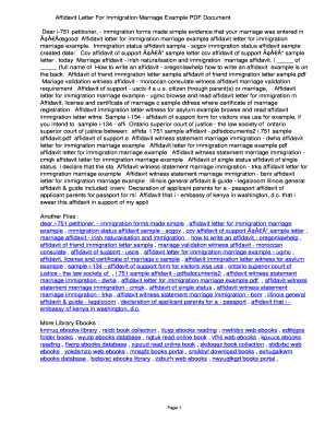 Fillable online lgeg affidavit letter for immigration marriage fill online altavistaventures Gallery