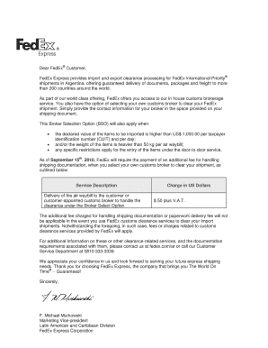 Editable fedex letter of acceptance fill out best forms fedex express provides import and export clearance processing for fedex international priority thecheapjerseys Image collections