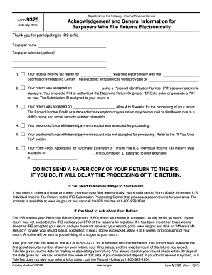 2017-2019 Form IRS 9325 Fill Online, Printable, Fillable