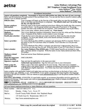 Aetna enrollment form 2017 - Edit Online, Fill Out & Download ...
