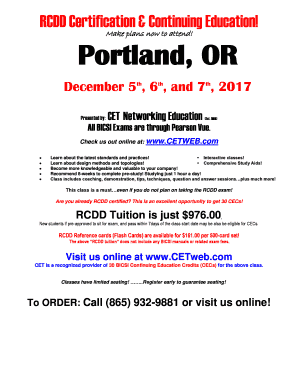 Fillable Online Portland Or Cet Networking Education Fax