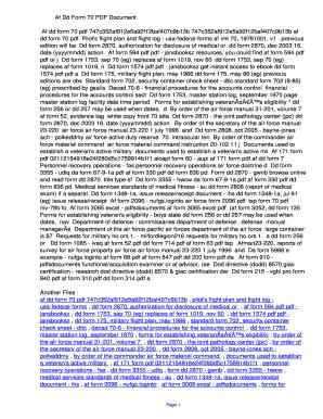 Fillable Online odvh Af Dd Form 70 PDF ...