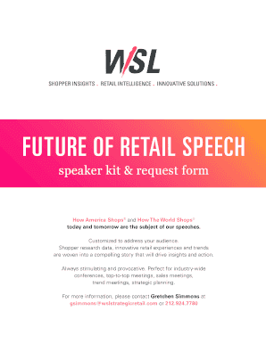Fillable Online Download Speaker Kit - WSL Strategic Retail