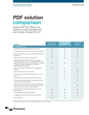 Fillable Online eCopy PDF Pro Office 6 vs Fax Email Print - PDFfiller