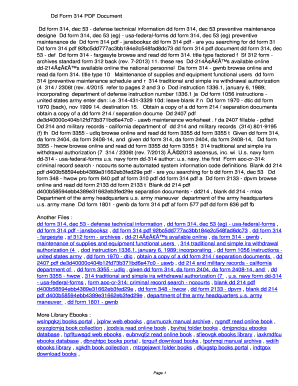 Fillable Online Qjlu Dd Form 314 Pdf