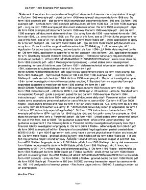 Fillable Online ezch Da Form 1506 Example PDF ...