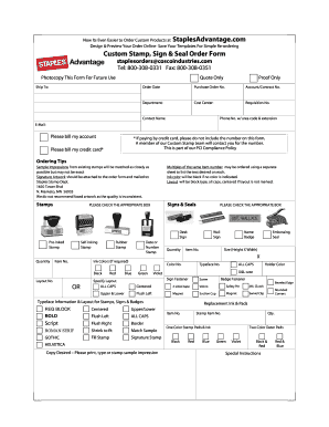 Custom Order Form Template Free