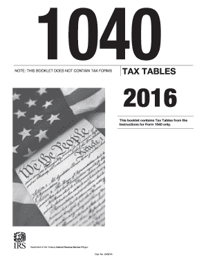 1040 tax table 2016-2017 form