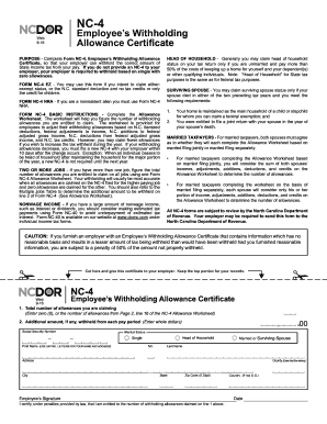 2016 Form NC DoR NC-4 Fill Online, Printable, Fillable, Blank ...