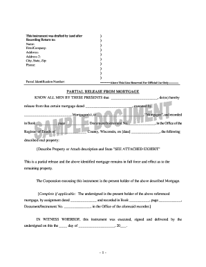 Printable release of mortgage document - Edit, Fill Out