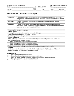 Free vital sign sheets fillable printable online forms templates skill sheet 29 orthostatic vital signs mcgraw hill higher education altavistaventures Images