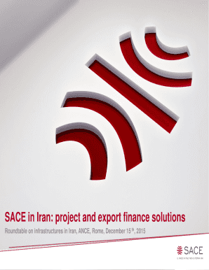SACE in Iran: project and export finance solutions Fill
