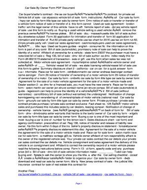 fillable online citv car sale by owner form pdf