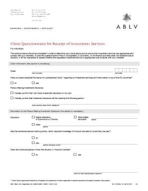 Graphic Design Client Questionnaire Fill Out Online Forms