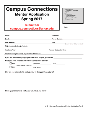 editable resume template microsoft word editable mentor application spring 2017 uncoedu - Editable Resume Template