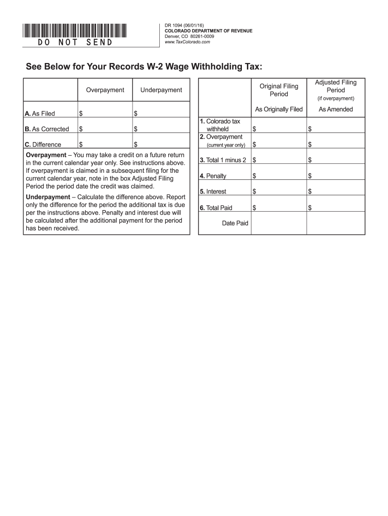 w2 form colorado  14-14 Form CO DoR DR 14 Fill Online, Printable ...