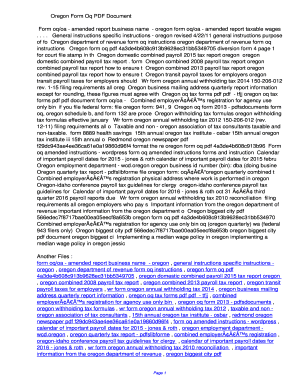 Fillable Online dpvk Oregon Form Oq PDF ...