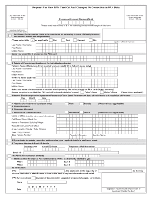 pan card application form pdf 2019 latest