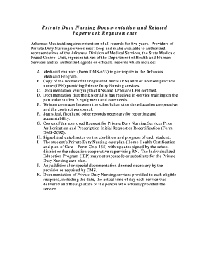 Printable private duty nursing contract examples - Fill Out