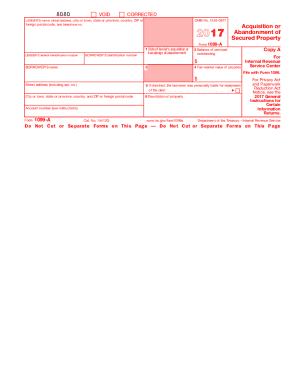 a 1099 2017  form