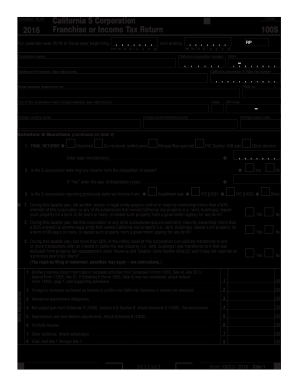 2016 Form Ca Ftb 100s Fill Online Printable Fillable Blank