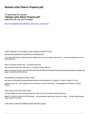 Fillable security deposit demand letter template - Download
