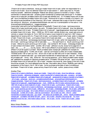 firearm bill of sale pdf