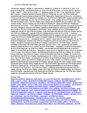 Fillable Online odvh Da Form 3749 PDF ...