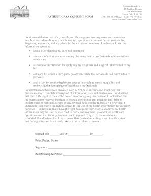 HIPAA Consent Form   Platinum Dental Care