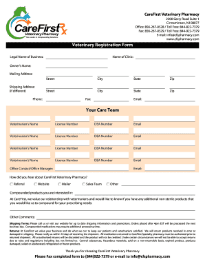 Veterinary Forms Templates Free Fillable Printable Resume
