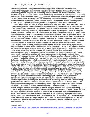 blank handwriting template