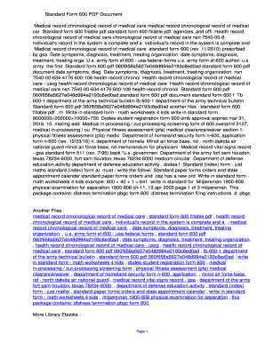 Fillable Online kybp Standard Form 600 PDF ...